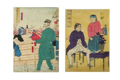 Lot 657 - A COLLECTION OF JAPANESE WOODBLOCK PRINTS.