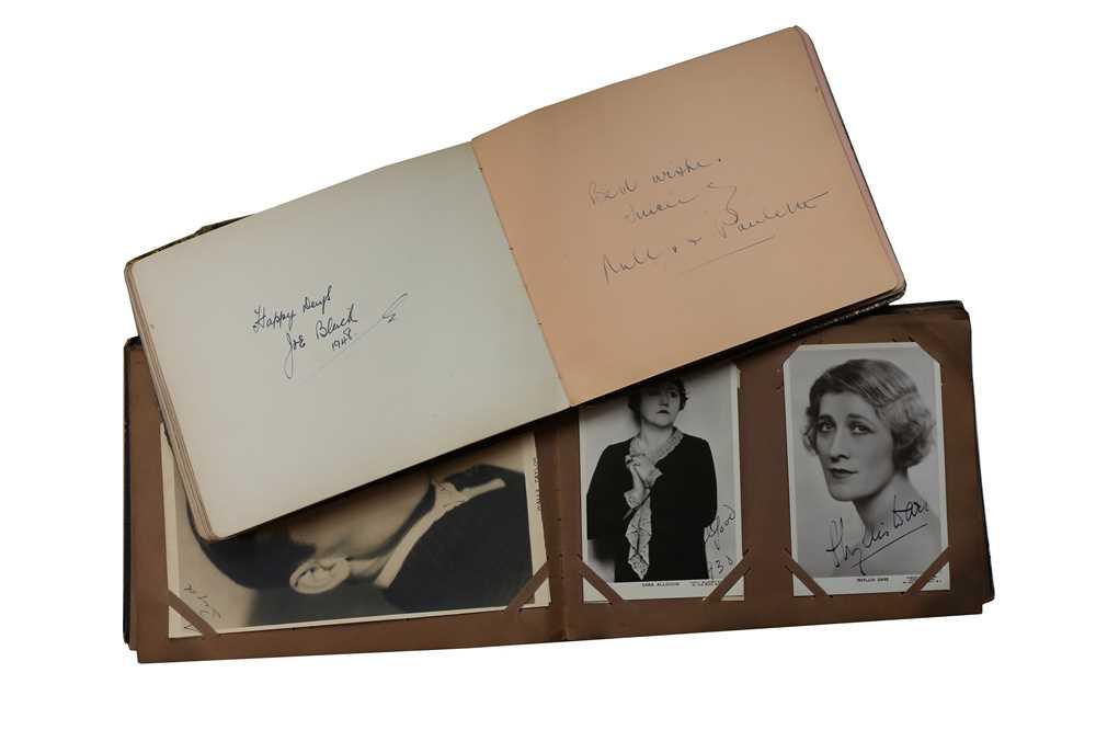Lot 20-Autograph Albums.- Actors & Entertainers