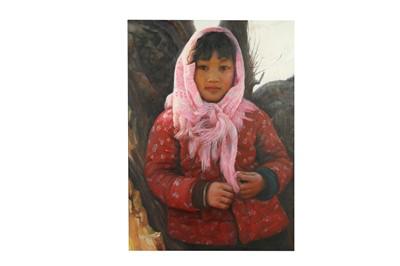 Lot 69 - LIU YUANSHOU (1967 –). A PORTRAIT OF A GIRL.