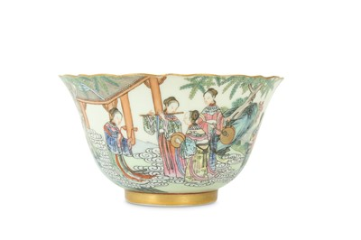 Lot 24 - A CHINESE FAMILLE ROSE 'IMMORTALS' BOWL.