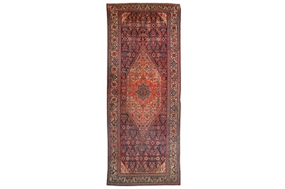 Lot 9-AN ANTIQUE HAMADAN KELLEH, WEST PERSIA