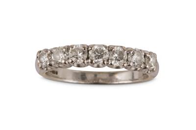 Lot 37-A diamond half hoop ring
