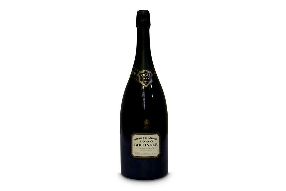 Lot 18-Magnum of Bollinger Grande Annee 1990