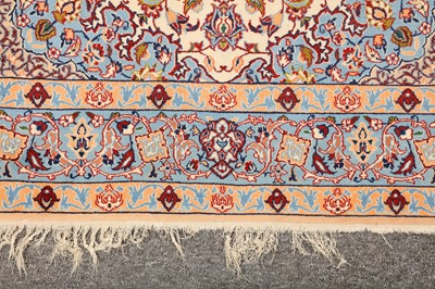 Lot 32-AN EXTREMELY FINE PART SILK ISFAHAN RUG, CENTRAL PERSIA
