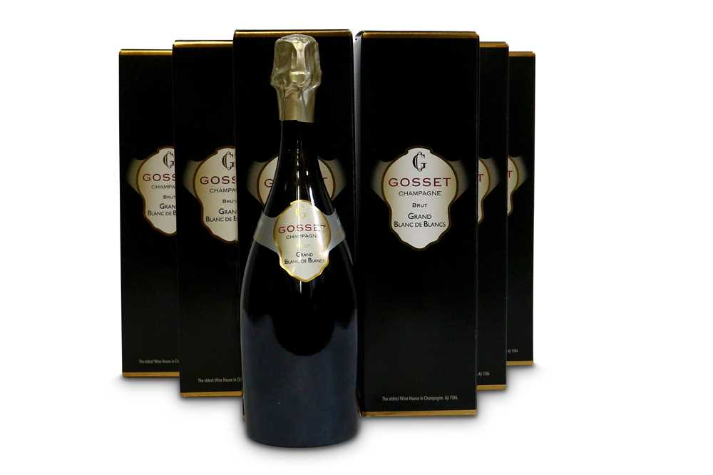 Lot 31-Gosset Grand Blanc de Blancs Brut, Champagne in Gift box