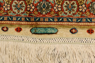 Lot 2-AN EXTREMELY FINE SILK HEREKE MAT, TURKEY