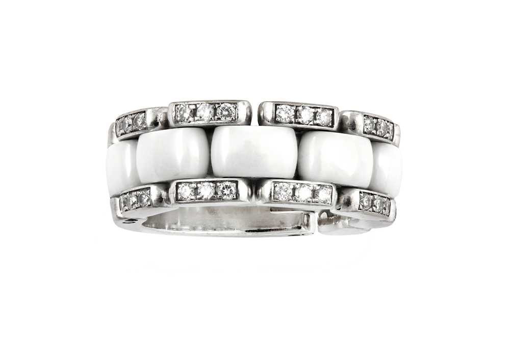 Lot 47-A ceramic and diamond-set 'Ultra' ring, by Chanel