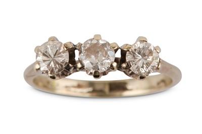 Lot 24A-A three-stone diamond ring