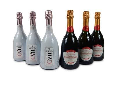 Lot 13-Champagne Canard-Duchene Charles VII Rose NV