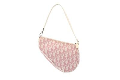 Lot 21-Christian Dior Pink Diorissimo Saddle Bag
