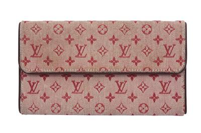 Lot 48-Louis Vuitton Sepia Monogram Idylle Long Wallet