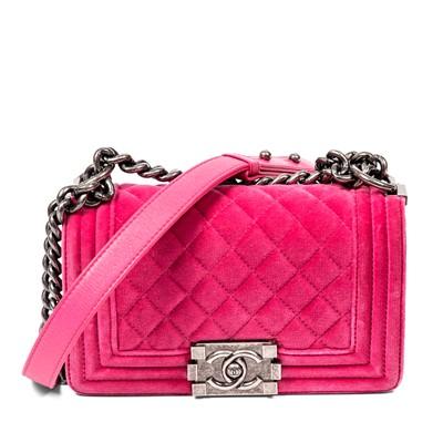 Lot 36-Chanel Pink Small Boy Bag