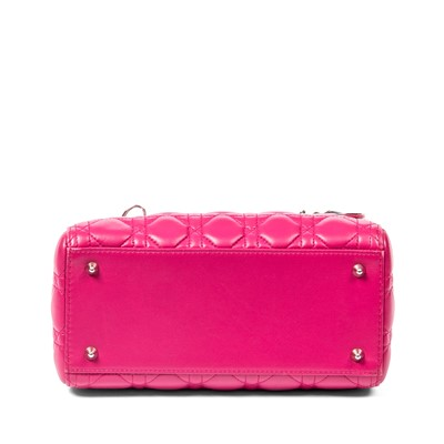 Lot 40 - Christian Dior Fuchsia Medium Lady Dior Bag