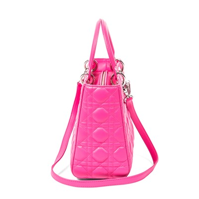 Lot 39 - Christian Dior Bubblegum Pink Medium Lady Dior