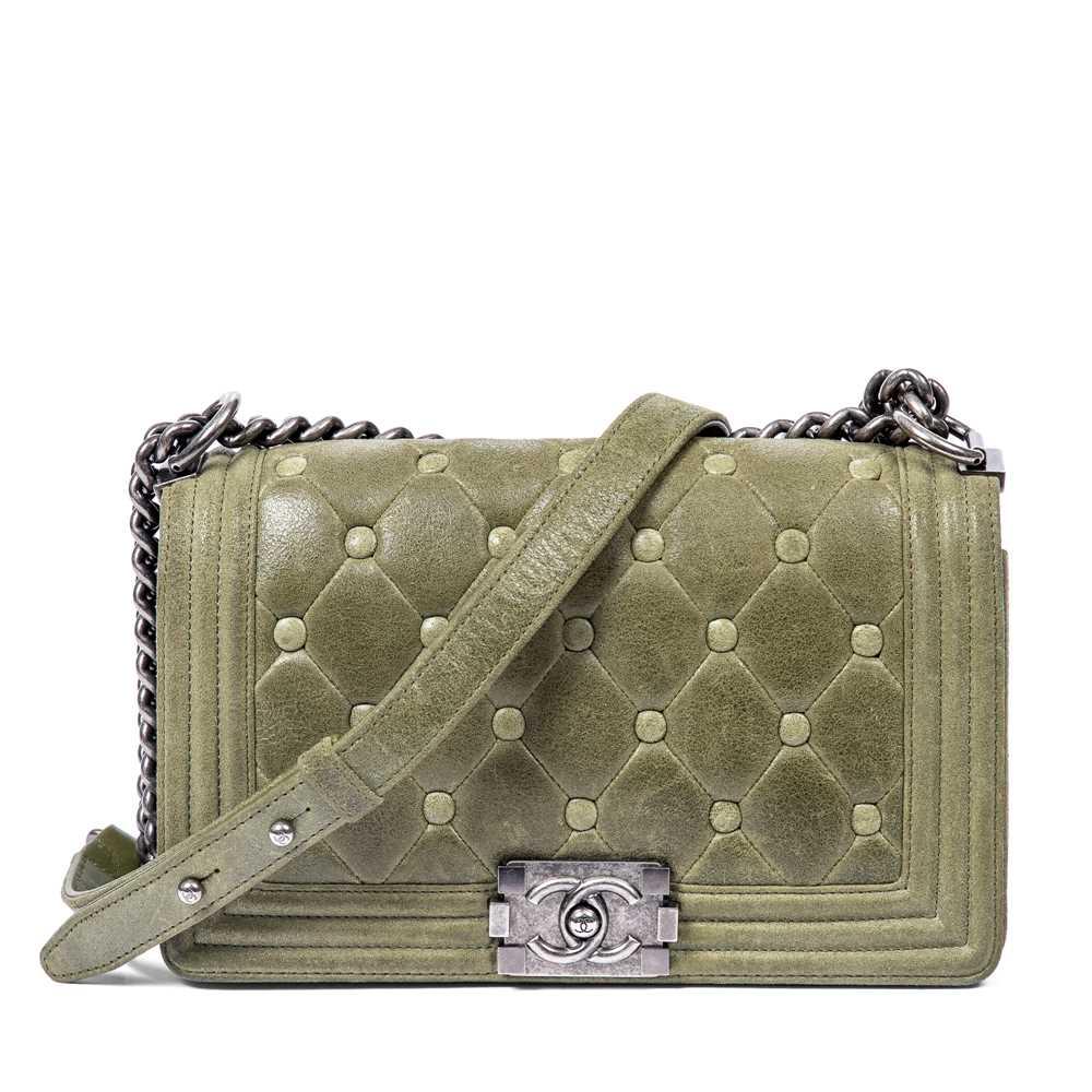 Lot 28-Chanel Khaki Medium Boy