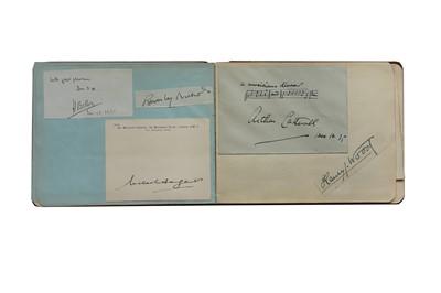 Lot 18-Autograph Album.- Miscellaneous