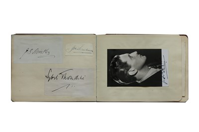Lot 18-Autograph Album.- Miscellaneous
