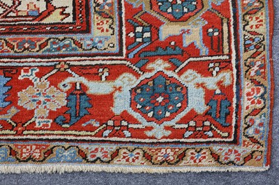 Lot 34-AN ANTIQUE HERIZ CARPET, NORTH-WEST PERSIA