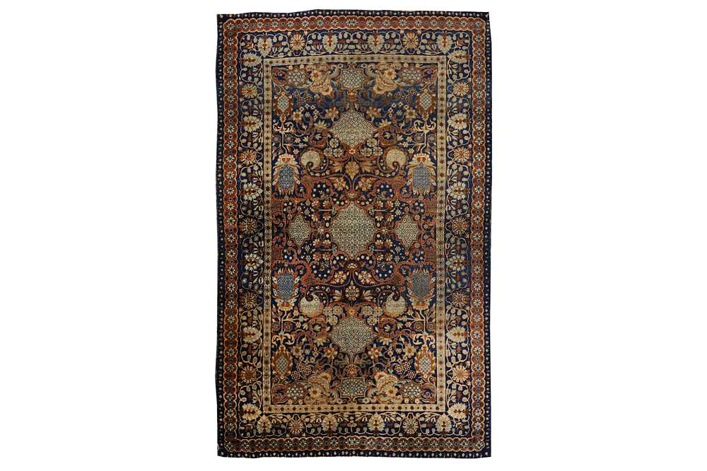 Lot 8-FINE KIRMAN RUG, SOUTH PERSIA