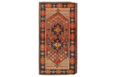 Lot 16-AN UNUSUAL HERIZ RUG, NORTH-WEST PERSIA