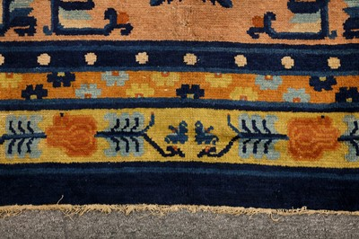 Lot 24-AN ANTIQUE NINGXIA CARPET, CHINA