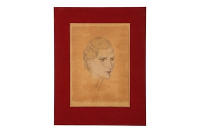 Lot 260 - TSUGUHARU FOUJITA (1886-1968), PORTRAIT OF A LADY.