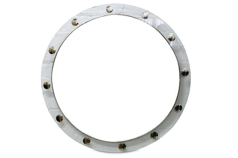 Lot 28-A circa 1970's circular mirror