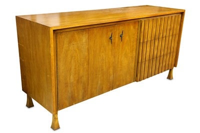 Lot 5-John Widdicomb, Grand Rapids, Michigan, a circa 1960's walnut sideboard