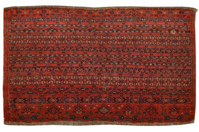 Lot 48-AN ANTIQUE TEKKE JUVAL RUG, EAST TURKMENISTAN