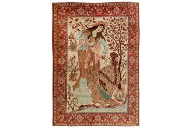 Lot 65-A  VERY FINE ISFAHAN PICTORIAL RUG, CENTRAL PERSIA