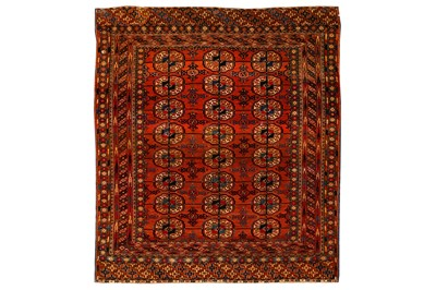 Lot 35-AN ANTIQUE BOKHARA RUG, EAST TURKMENISTAN