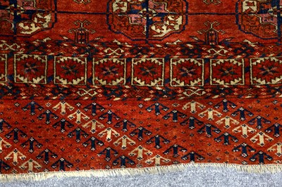 Lot 12-AN ANTIQUE BOKHARA RUG, EAST TURKMENISTAN