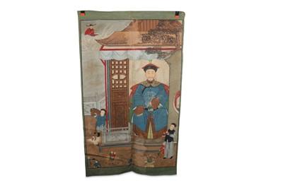 Lot 93-A CHINESE ANCESTOR PORTRAIT.