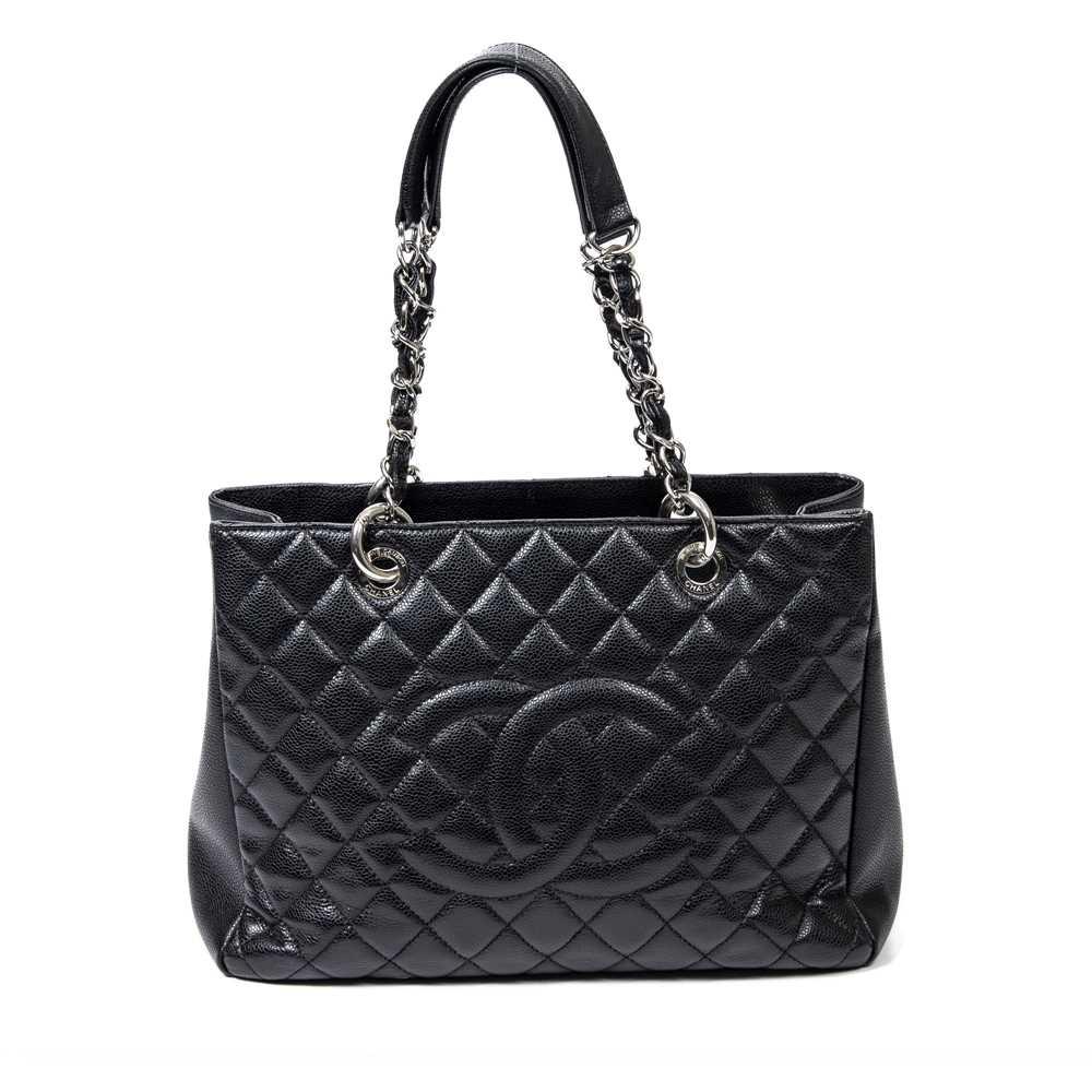 Lot 33-Chanel Black Grand Shopper Tote (GST)