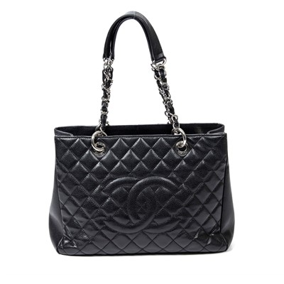 Lot 33-Chanel Black Grand Shopper Tote (GST)