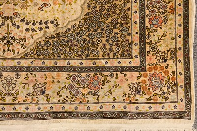 Lot 38-AN EXTREMELY FINE SILK HEREKE RUG, TURKEY