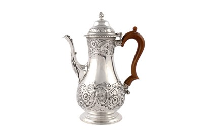 Lot 31-A Victorian sterling silver Bachelor's coffee pot