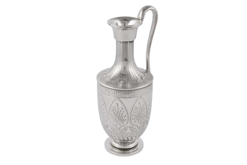 Lot 28-An early Victorian sterling silver vase