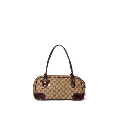 Lot 33-Gucci Monogram Princy Boston Shoulder Bag