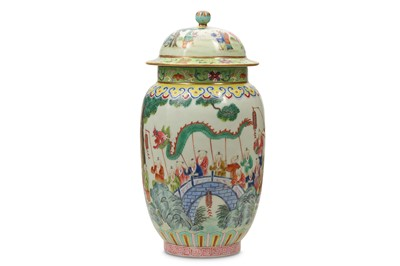 Lot 37-A CHINESE FAMILLE ROSE 'HUNDRED BOYS' JAR AND COVER.