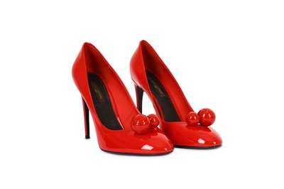 Lot 23-Louis Vuitton Red Patent Leather Betty Pumps - Size 39