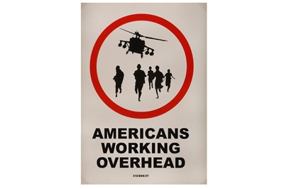 Lot 18-Banksy (British, b.1974), 'Americans Working Overhead'