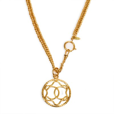 Lot 41-Chanel CC Logo Star Pendant Necklace