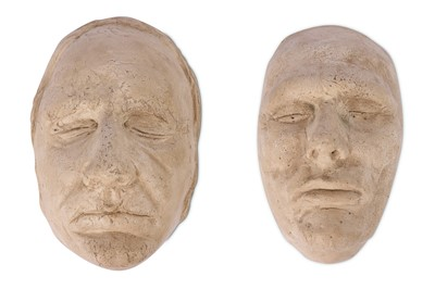 Lot 24-A PAIR OF PLASTER DEATH MASKS OF BURKE AND HARE