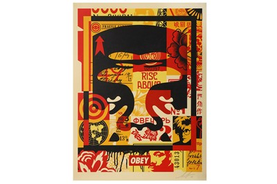 Lot 76-Shepard Fairey (American, b.1970), 'OBEY Three Faces Collage no.1'