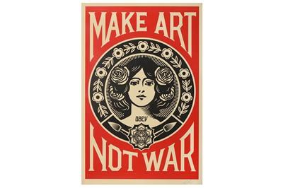 Lot 20-Shepard Fairey (American, b.1970), 'Make Art Not War'
