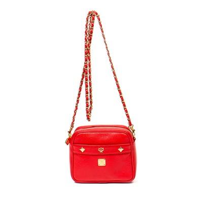 Lot 14-MCM Red Camera Bag