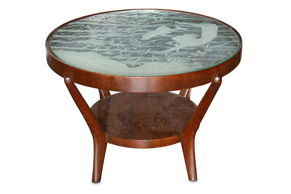 Lot 20-A mid 20th Century Italian walnut circular low table
