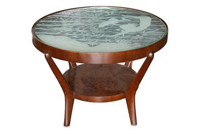 Lot 20-A mid 20th Century Italian walnut circular low table