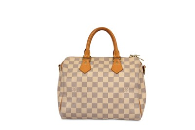 Lot 1-Louis Vuitton Damier Azur Bandoueliere 25
